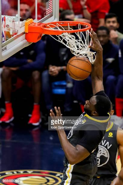 Golden State Warriors forward Draymond Green dunks the ball against New Orleans Pelicans during game 4 of the NBA Western Conference Semifinals at...