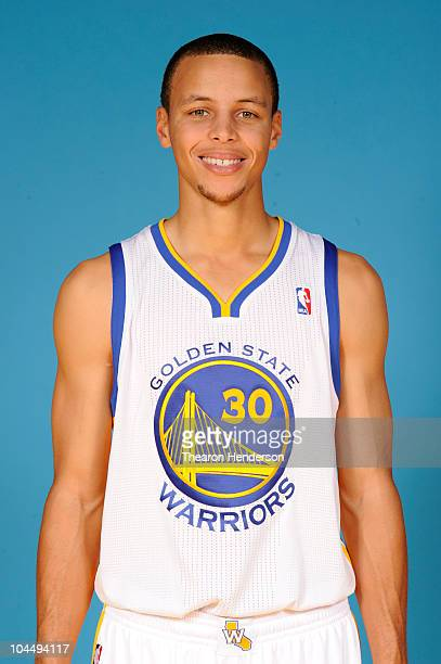 Golden State Warriors guard Stephen Curry poses for a picture at the team's annual Media Day on September 27 2010 in Oakland California NOTE TO USER...