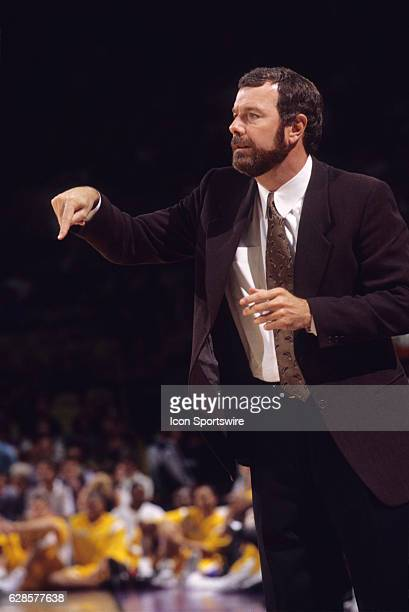 Golden State Warriors head coach PJ Carlesimo during a National Basketball Association game against the Los Angeles Lakers at the Great Western Forum...