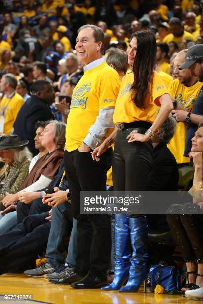Golden State Warriors owner and CEO Joe Lacob looks on in Game One of the 2018 NBA Finals against the Cleveland Cavaliers on May 31, 2018 at ORACLE...