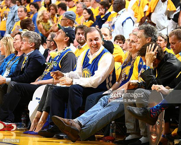 Golden State Warriors owner Joe Lacob attends Game Five of the 2016 NBA Finals between the Cleveland Cavaliers and Golden State Warriors on June 13...