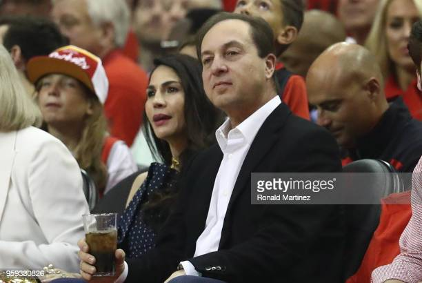 Golden State Warriors owner Joe Lacob looks on during Game Two of the Western Conference Finals of the 2018 NBA Playoffs between the Houston Rockets...