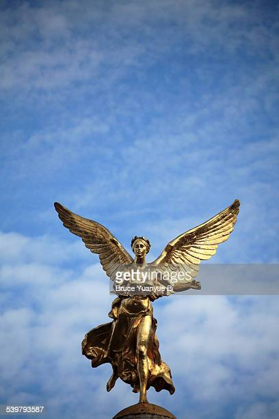 Golden statue of Winged Victory