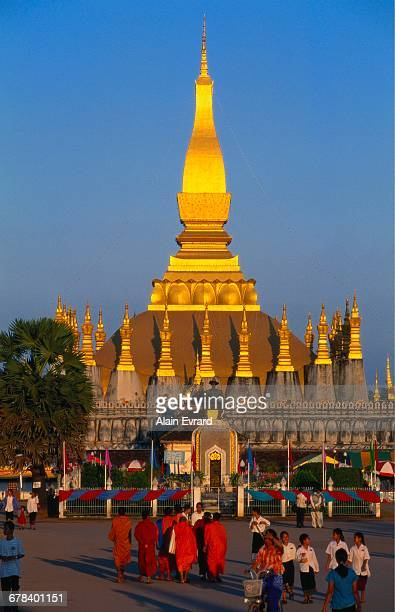 Golden Stupa at Pha That Luang Temple, Vientiane, Laos