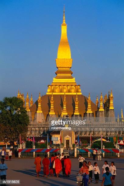 Golden Stupa at Pha That Luang Temple, Vientiane, Laos