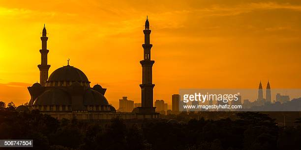 Golden Sunrise at a Mosque in Kuala Lumpur