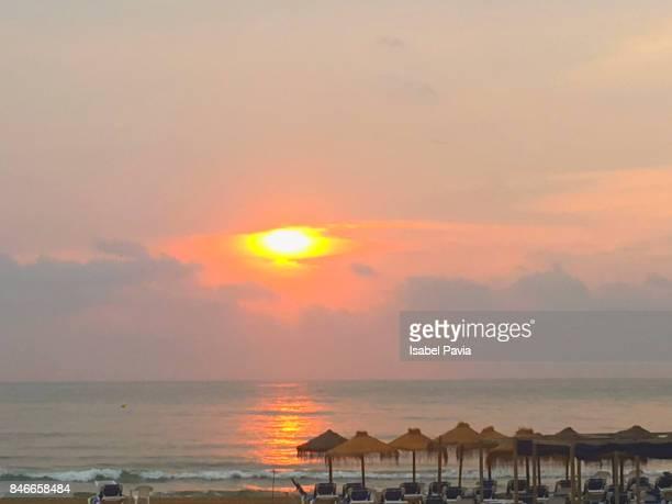 Golden sunrise at beach