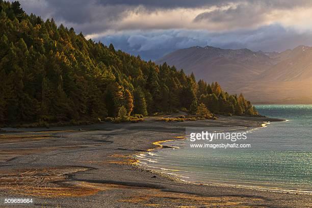 Golden Sunrise at Lake Tekapo