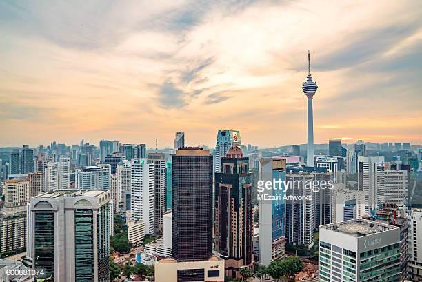 Golden Sunset at Kuala Lumpur city