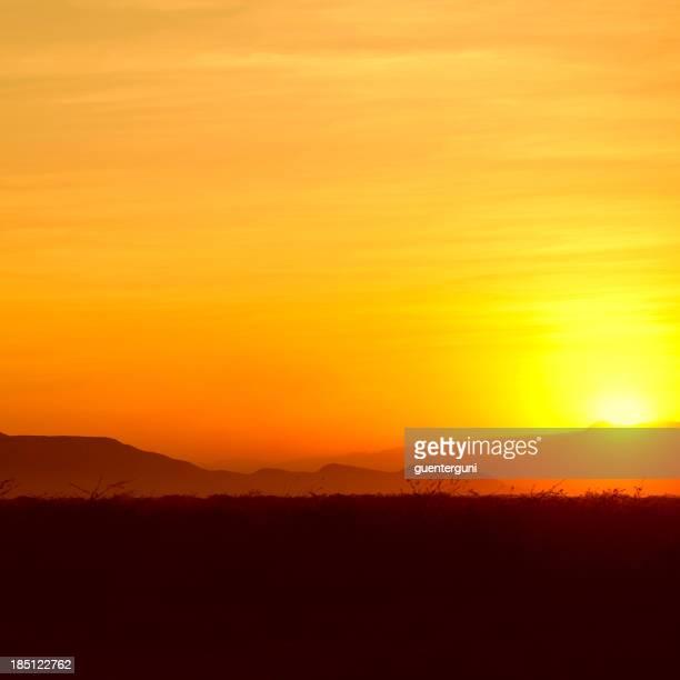 Golden Sunset dans la Corne de l'Afrique