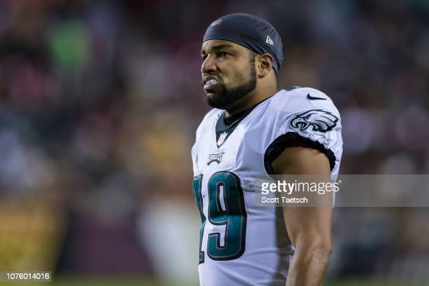 Golden Tate of the Philadelphia Eagles looks on against the Washington Redskins during the second half at FedExField on December 30 2018 in Landover...