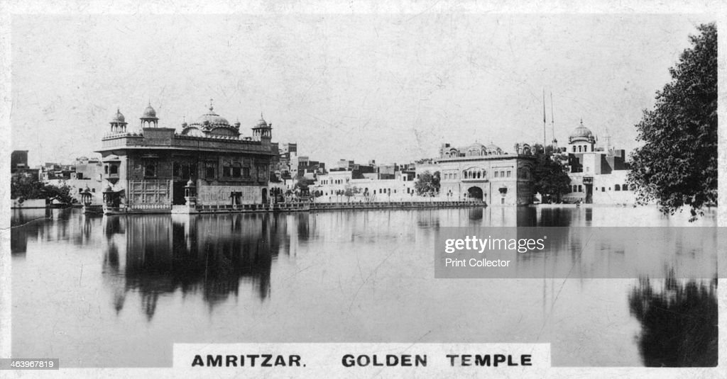 Golden Temple Amritsar India c1925 A view of the Golden Temple at Amritsar the principal shrine of the Sikh religion The temple was built between...
