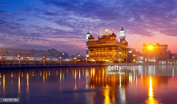 golden temple, amritsar, punjab - golden temple india stock photos and pictures
