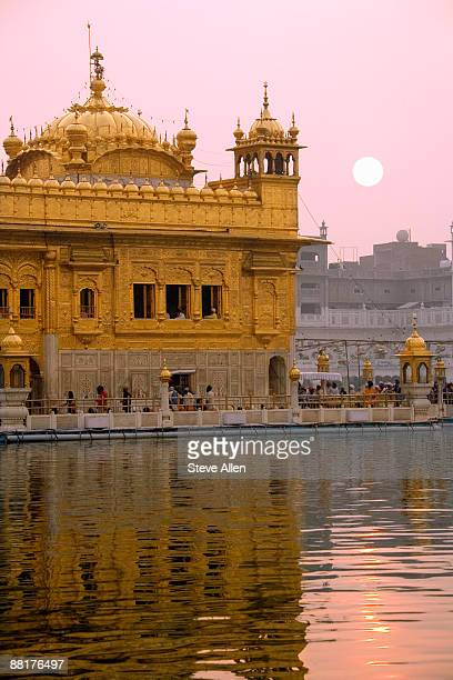 golden temple at amritsar, punjab, india - amritsar stock pictures, royalty-free photos & images