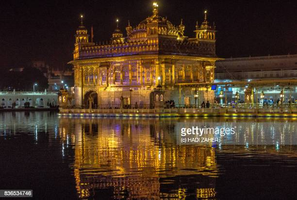 golden temple at night | amritsar | punjab | india - punjab india stock pictures, royalty-free photos & images