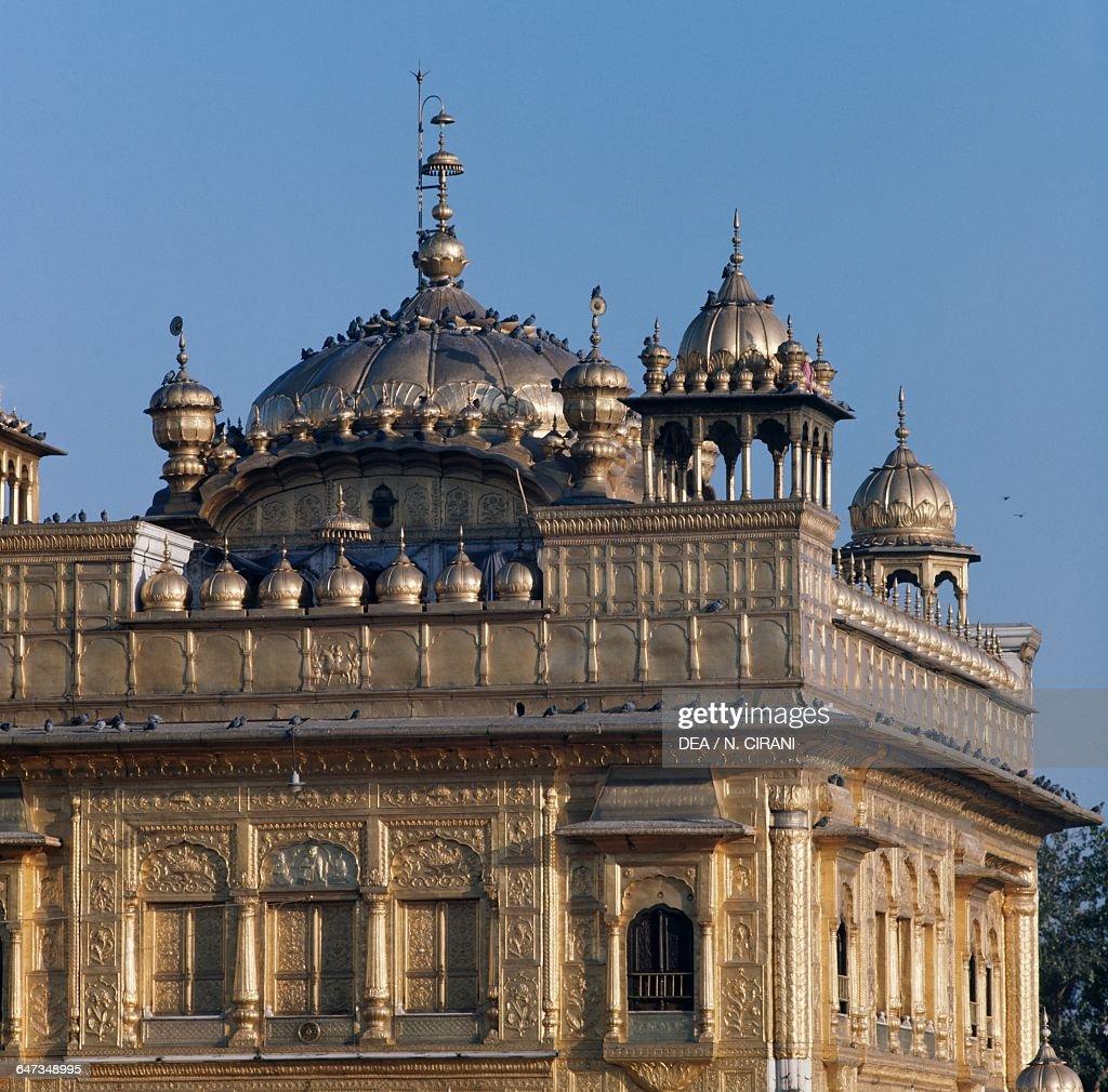 Golden Temple or Sri Harmandir Sahib Sikh Temple Amritsar Punjab India 16th century