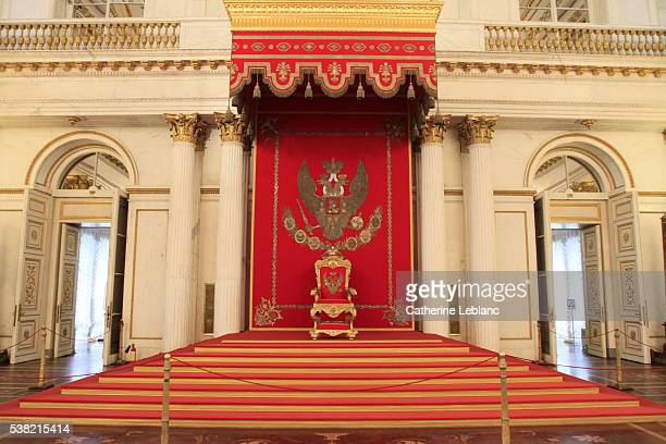 Golden Throne. The throne room. St. George's Hall. Hermitage Museum.