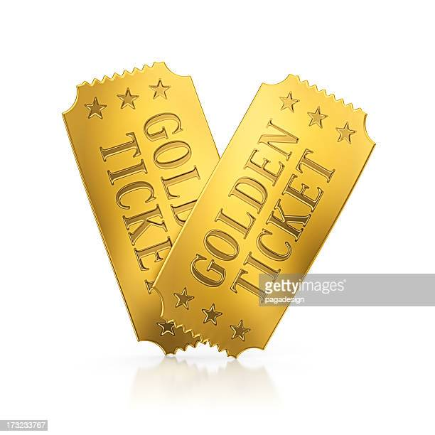 golden tickets - ticket stock pictures, royalty-free photos & images