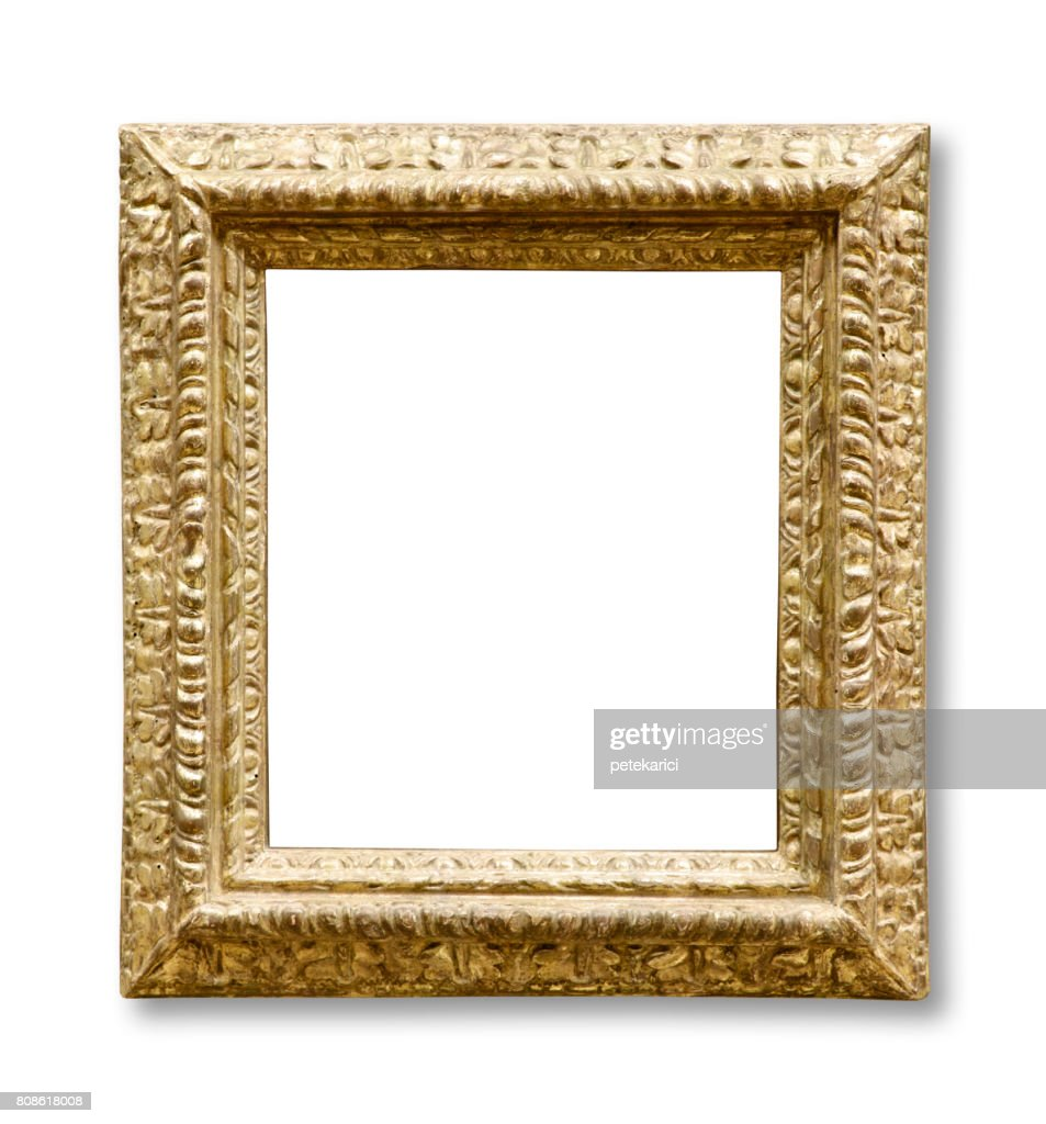 Golden vintage frame isolated on white background stock photo golden vintage frame isolated on white background clipping path stock photo jeuxipadfo Gallery