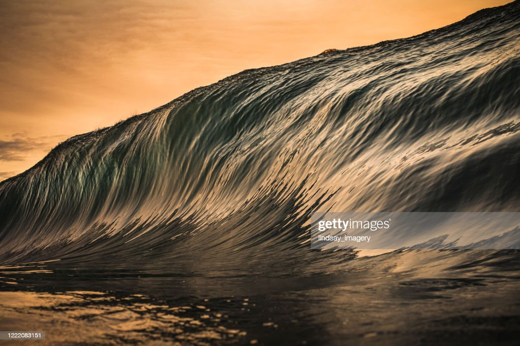 Golden wave forming : Stock Photo