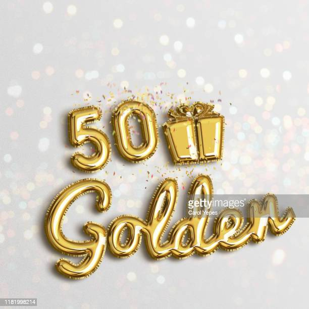 50 golden wedding gold balloon - number 50 stock pictures, royalty-free photos & images