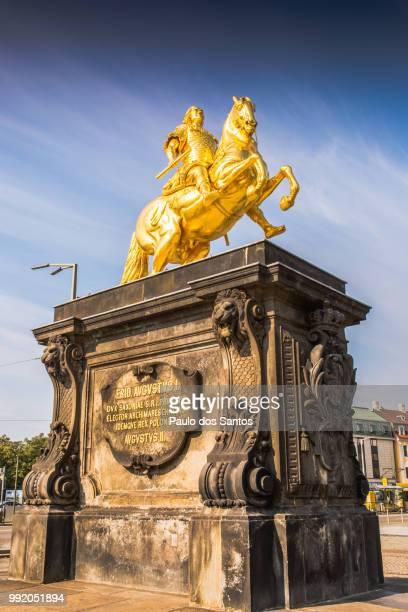 goldener reiter - monumente stock-fotos und bilder