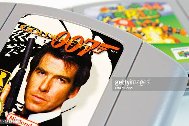 goldeneye 64 - nintendo game - nintendo stock pictures, royalty-free photos & images