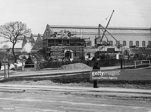 Golders Green tube station under construction in north London April 1907 The station completed the following June was originally on the Charing Cross...