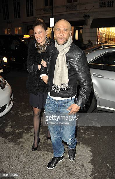 Goldie and guest attend the Radio Times Covers Party at Claridge's Hotel on January 18 2011 in London England