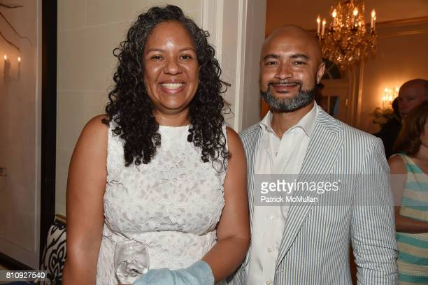Goldie Bryant and Seth Bryant attend Katrina and Don Peebles Host NY Mission Society Summer Cocktails at Private Residence on July 7 2017 in...