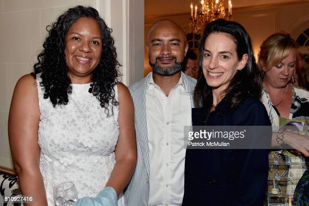 Goldie Bryant Seth Bryant and Beth Gordon attend Katrina and Don Peebles Host NY Mission Society Summer Cocktails at Private Residence on July 7 2017...