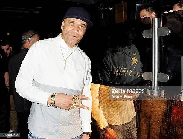 Goldie DJ's at the launch of Johnnie Walker Gold reserve at Whisky Mist on July 18, 2012 in London, England.