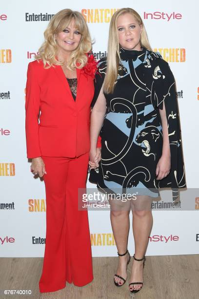 Goldie Hawn and Amy Schumer attend the New York premiere of 'Snatched' at the Whitby Hotel on May 2 2017 in New York City