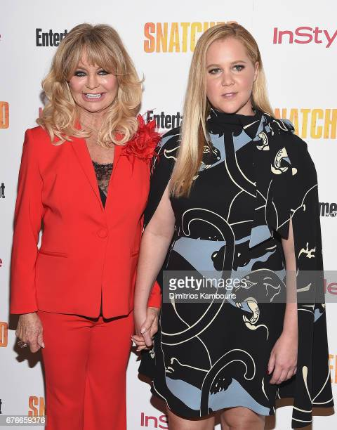 Goldie Hawn and Amy Schumer attend the 'Snatched' New York Premiere at the Whitby Hotel on May 2 2017 in New York City