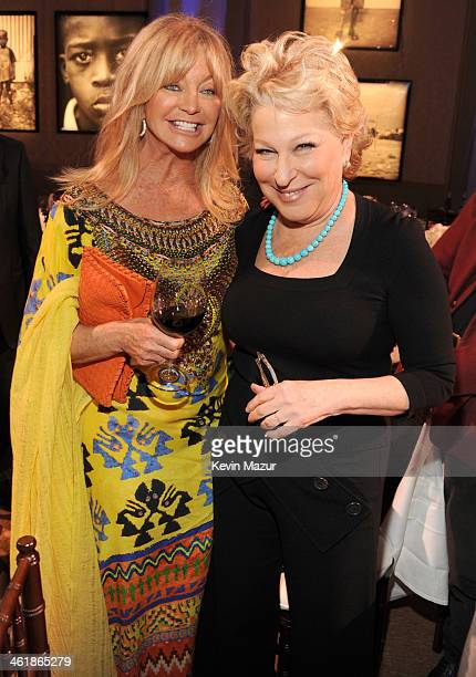Goldie Hawn and Bette Midler attend the 3rd annual Sean Penn Friends HELP HAITI HOME Gala benefiting J/P HRO presented by Giorgio Armani at Montage...