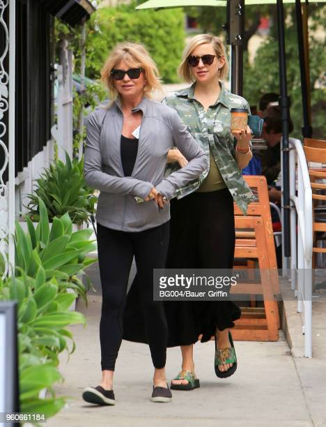 Goldie Hawn and Kate Hudson are seen on May 20 2018 in Los Angeles California