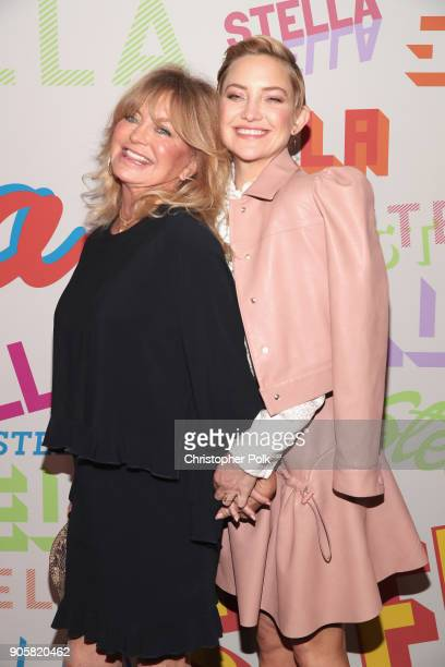 Goldie Hawn and Kate Hudson attend Stella McCartney's Autumn 2018 Collection Launch on January 16, 2018 in Los Angeles, California.