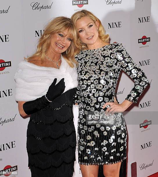 Goldie Hawn and Kate Hudson attends the New York premiere of Nine at the Ziegfeld Theatre on December 15 2009 in New York City