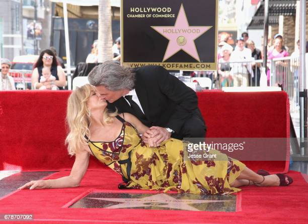 Goldie Hawn and Kurt Russell are honored with a Star On the Hollywood Walk of Fame on May 4 2017 in Hollywood California