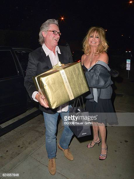 Goldie Hawn and Kurt Russell are seen on November 19 2016 in Los Angeles California