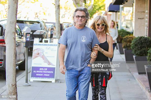 Goldie Hawn and Kurt Russell are seen on November 25, 2016 in Los Angeles, California.