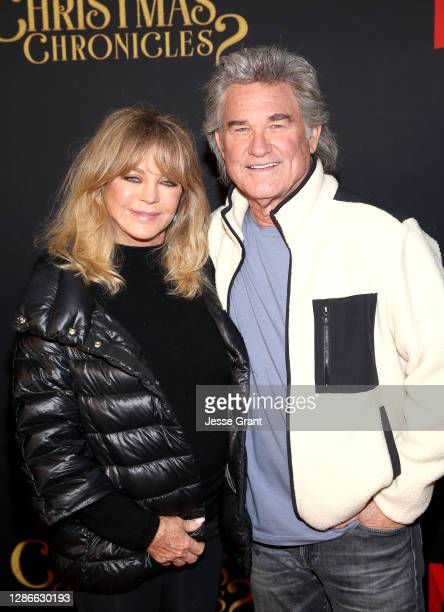 """Goldie Hawn and Kurt Russell attend Netflix's """"The Christmas Chronicles: Part Two"""" Drive-In Event at The Grove on November 19, 2020 in Los Angeles,..."""
