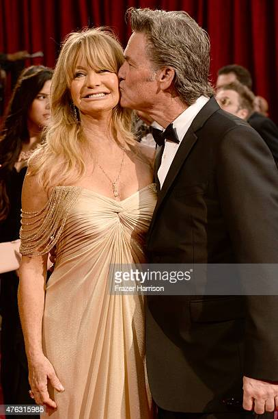 Goldie Hawn and Kurt Russell attend the Oscars held at Hollywood Highland Center on March 2 2014 in Hollywood California