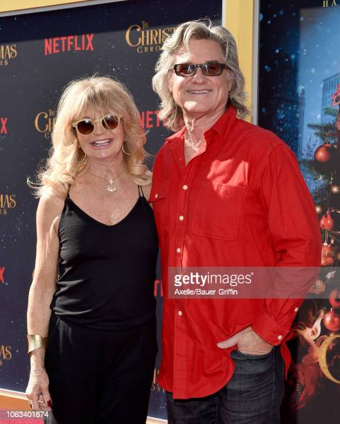 Goldie Hawn and Kurt Russell attend the premiere of Netflix's 'The Christmas Chronicles' at Fox Bruin Theater on November 18, 2018 in Los Angeles,...