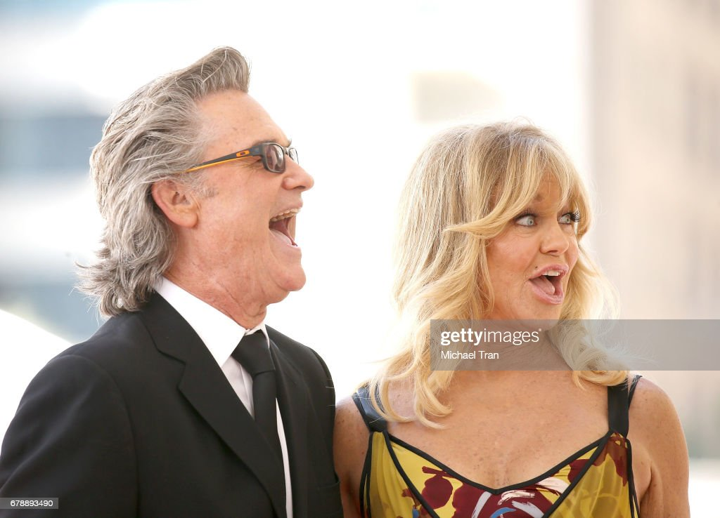 Goldie Hawn And Kurt Russell Honored With Double Star Ceremony On The Hollywood Walk Of Fame : News Photo