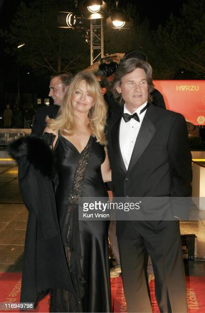 Goldie Hawn and Kurt Russell during 40th Annual Goldene Kamera Outside Arrivals at Axel Springer House in Berlin Germany