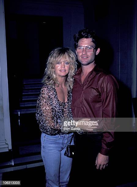 Goldie Hawn and Kurt Russell during Goldie Hawn and Kurt Russell Sighting at the Carlyle Hotel - July 23, 1983 at Carlyle Hotel in New York City, New...