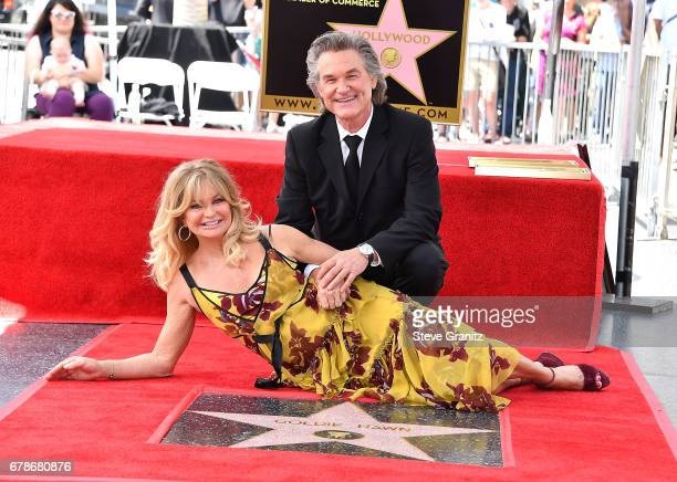 Goldie Hawn And Kurt Russell Honored With Double Star Ceremony On The Hollywood Walk Of Fameon May 4 2017 in Hollywood California