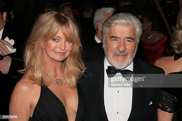 Goldie Hawn and Mario Adorf attend the UNESCO Benefit Gala for Children 2008 at Hotel Maritim on November 1 2008 in Cologne Germany