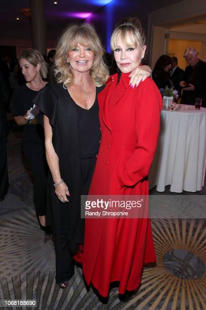Goldie Hawn and Melanie Griffith attend Equality Now's Make Equality Reality Gala 2018 at The Beverly Hilton Hotel on December 3 2018 in Beverly...